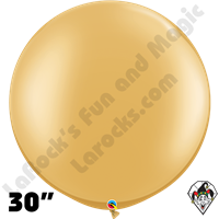 30 Inch Round Metallic Gold Balloon Qualatex 2ct aka 3ft