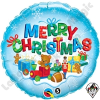 Qualatex 18 Inch Merry Christmas Presents Foil Balloon 1ct