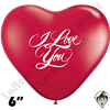 Qualatex 6 Inch Heart I Love You Balloons 100ct