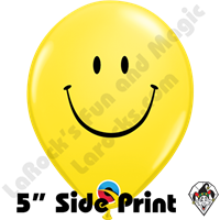 Qualatex 5 Inch Round Smile Yellow Balloons 100ct