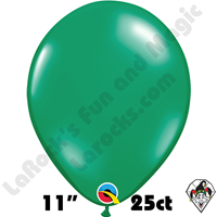 Qualatex 11 Inch Round Jewel Emerald Green Balloons 25ct