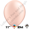 Qualatex 11 Inch Round Pearl Peach Balloons 25ct