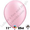 Qualatex 11 Inch Round Pearl Pink Balloons 25ct
