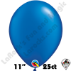 Qualatex 11 Inch Round Pearl Sapphire Blue Balloons 25ct