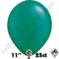 Qualatex 11 Inch Round Pearl Emerald Green Balloons 25ct