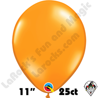 Qualatex 11 Inch Round Jewel Mandarin Orange Balloons 25ct