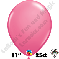 Qualatex 11 Inch Round Fashion Rose Balloons 25ct