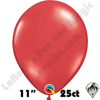 Qualatex 11 Inch Round Jewel Ruby Red Balloons 25ct