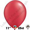Qualatex 11 Inch Round Pearl Ruby Red Balloons 25ct