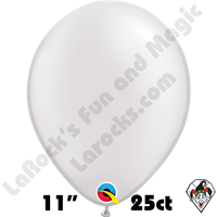 Qualatex 11 Inch Round Pearl White Balloons 25ct