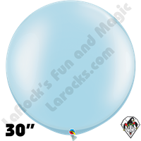 30 Inch Round Pearl Light Blue Balloon Qualatex 2ct aka 3ft