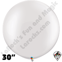 30 Inch Round Pearl White Balloon Qualatex 2ct aka 3ft