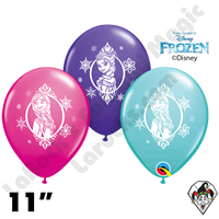 11 Inch Round Assortment Disney Frozen Special Qualatex 25ct