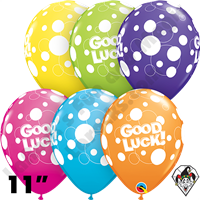 Qualatex 11 Inch Round Good Luck Dots Assortment Balloons 50ct