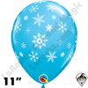 Qualatex 11 Inch Round Snowflake Robins Egg Blue Balloons 50ct