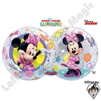 22 Inch Minnie Mouse Disney Bow-Tique Bubble Qualatex 1ct