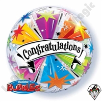 Qualatex 22 Inch Congratulations Banner Bubble 1ct