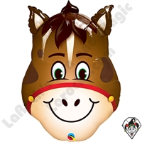 Qualatex 32 Inch Hilarious Horse Foil Balloon 1ct