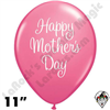 Qualatex 11 Inch Round Rose Mother's Day Classy Script Balloons 50ct
