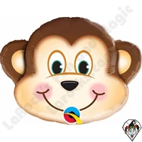 Qualatex 14 Inch Shape Mischievous Monkey Foil Balloon 1ct