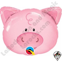 Qualatex 14 Inch Shape Playful Pig Foil Balloon 1ct