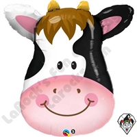 Qualatex 14 Inch Shape Contented Cow Foil Balloon 1ct