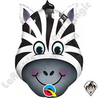 Qualatex 14 Inch Shape Zany Zebra Foil Balloon 1ct
