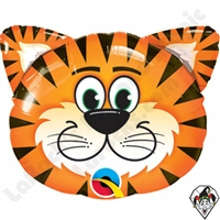 14 Inch Shape Tickled Tiger Foil Balloon Qualatex 1ct