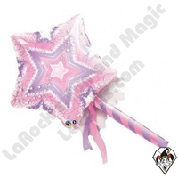 14 Inch Shape Magic Wand Foil Balloon Qualatex 1ct