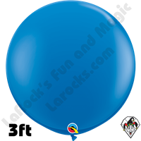 Qualatex 3 Foot Round Standard Dark Blue Balloons 2ct