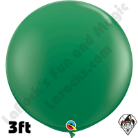 Qualatex 3 Foot Round Standard Green Balloons 2ct