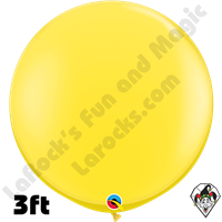 Qualatex 3 Foot Round Standard Yellow Balloons 2ct