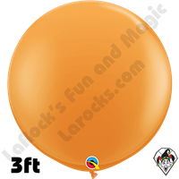 Qualatex 3 Foot Round Standard Orange Balloons 2ct