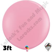 Qualatex 3 Foot Round Standard Pink Balloons 2ct