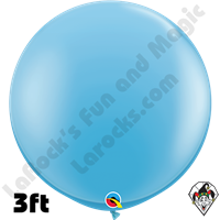 Qualatex 3 Foot Round Standard Pale Blue Balloons 2ct