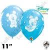 Qualatex 11 Inch Round Disney Mickey Mouse Baby Stars Pale Blue & Robin's Egg Blue Balloons 50ct