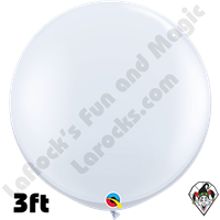 Qualatex 3 Foot Round Standard White Balloons 2ct