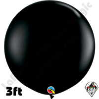 Qualatex 3 Foot Round Fashion Onyx Black Balloons 2ct