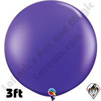 Qualatex 3 Foot Round Jewel Quartz Purple Balloons 2 pack