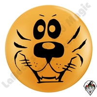 Qualatex 5 Inch Round Tiger Face Balloon by Juan Gonzales
