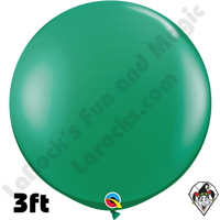 Qualatex 3 Foot Round Jewel Emerald Green Balloons 2 pack