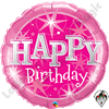 Qualatex 36 Inch Round Birthday Pink Sparkle Foil Balloon 1ct