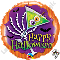 Qualatex 18 Inch Round Halloween Scary Drink Foil Balloon 1ct