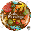 18 Inch Round Autumn Blessings Foil Balloon Qualatex 1ct