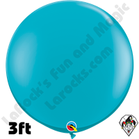 Qualatex 3 Foot Round Fashion Tropical Teal Balloons 2ct