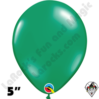 Qualatex 5 Inch Round Jewel Emerald Green Balloons 100ct
