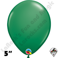 Qualatex 5 Inch Round Standard Green Balloons 100ct