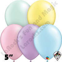 Qualatex 5 Inch Round Pearl Pastel Assortment Balloons 100ct