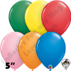 Qualatex 5 Inch Round Standard Assortment Balloons 100ct