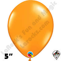 Qualatex 5 Inch Round Jewel Mandarin Orange Balloons 100ct
